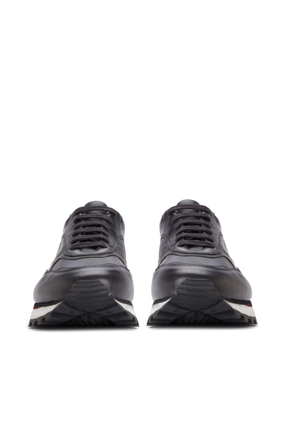 Siyah Erkek Dokulu Sneaker