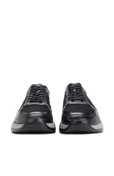 Siyah Gri File Doku Detaylı Erkek Ayakkabı