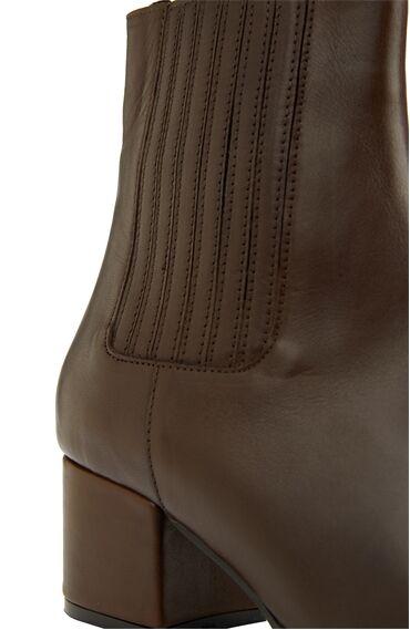Kahverengi Kadın Deri Bot