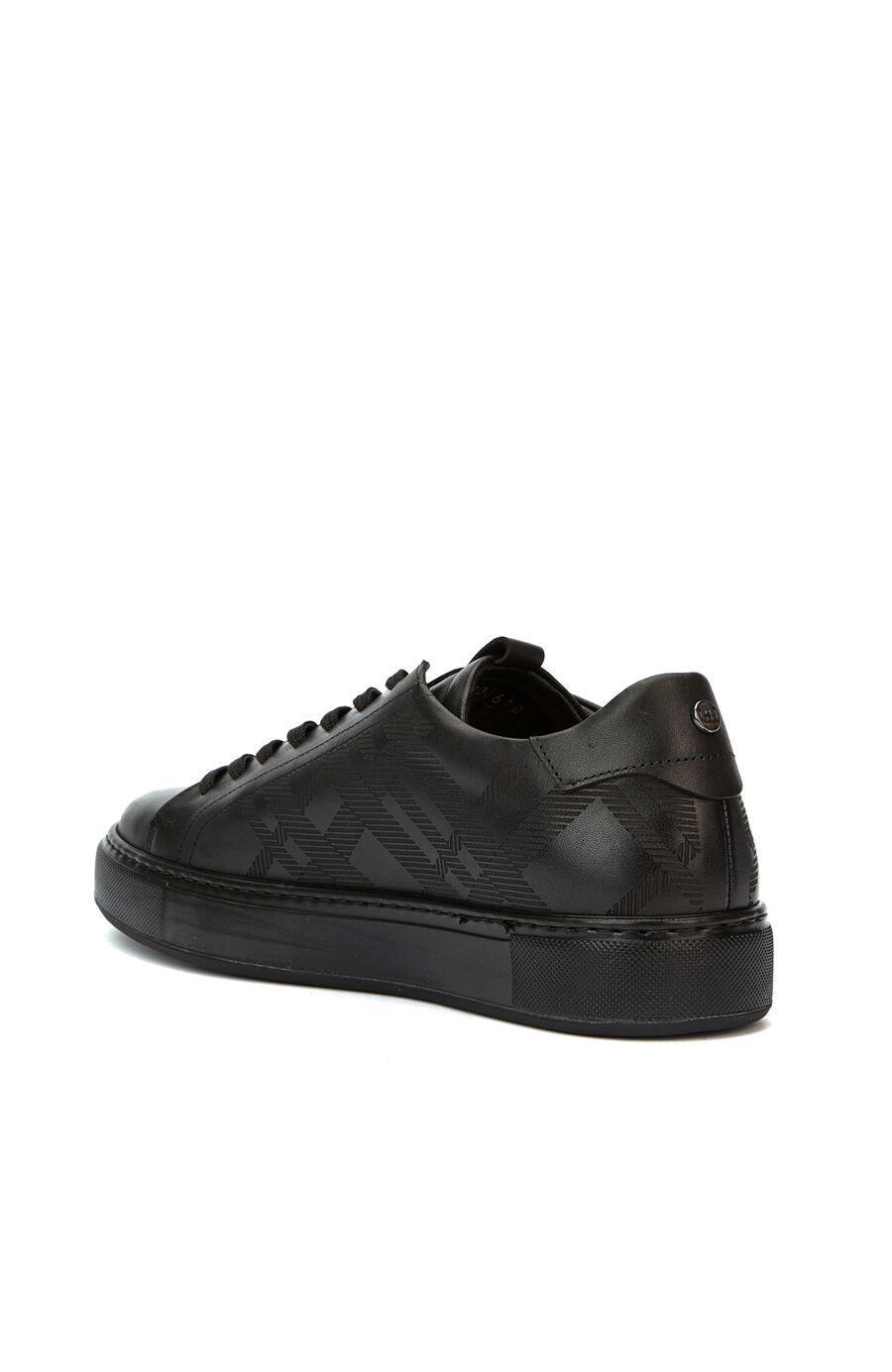 Siyah Desenli Kadın Ayakkabı