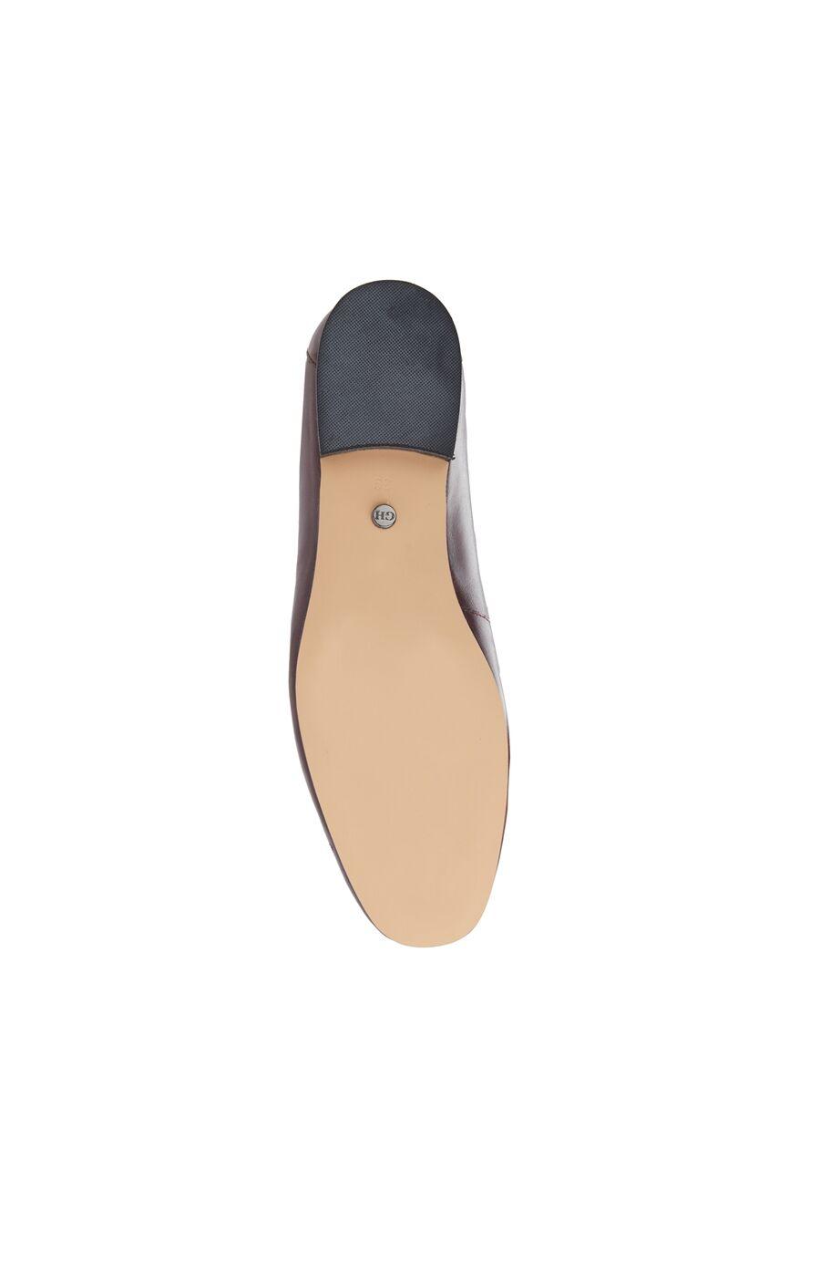 Bordo Kadın Deri Loafer