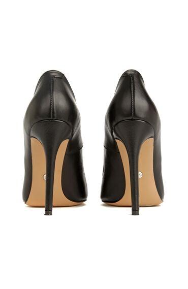 Siyah Deri Kadın Stiletto