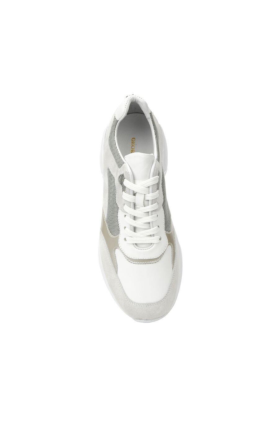 Beyaz Kadın Süet Sneaker