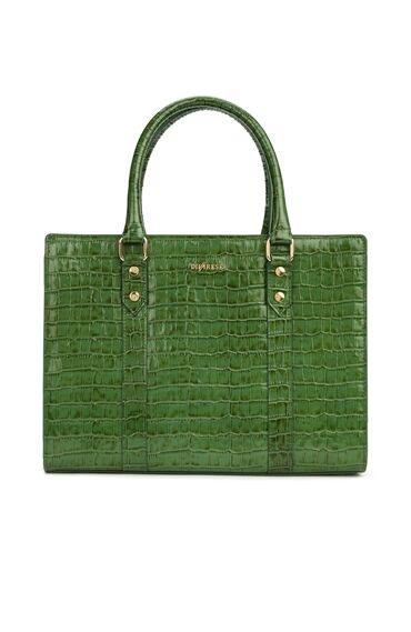 Yeşil Krokodil Dokulu Kadın Deri Çanta