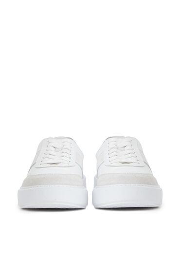 Beyaz Kadın Süet Deri Sneaker