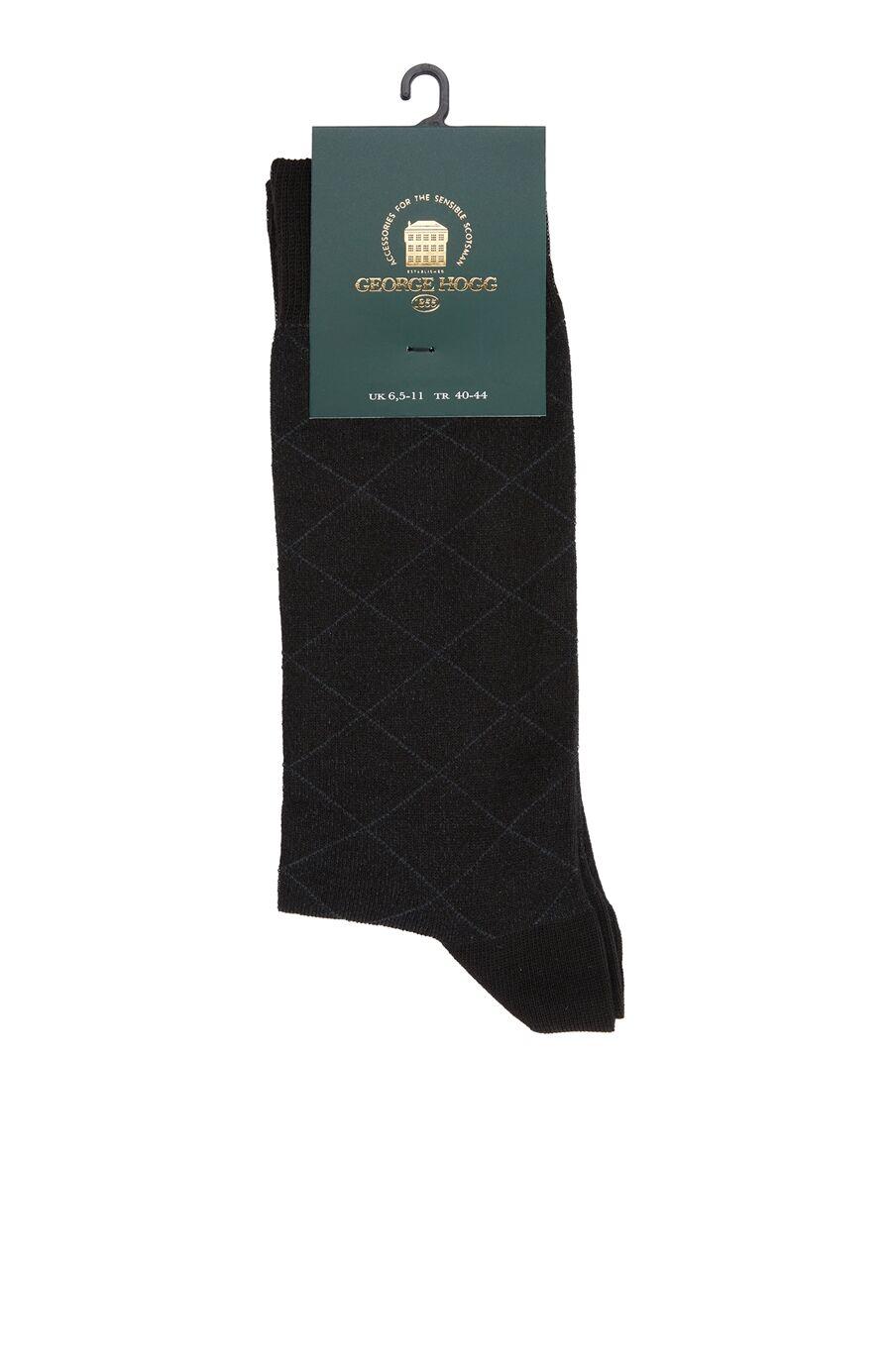 Siyah Desen Jakarlı Erkek Çorap