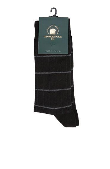 Siyah Gri Çizgili Erkek Çorap