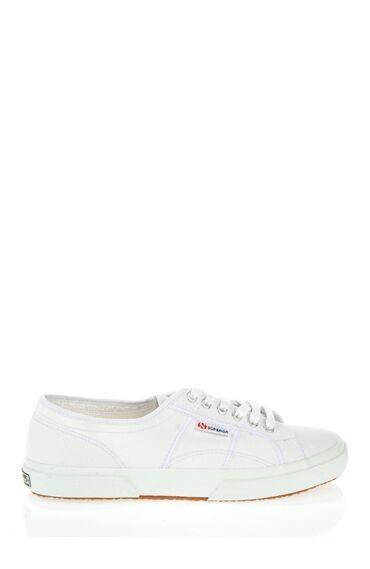 Bağcıklı Beyaz Keten Ayakkabı