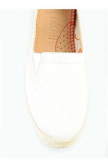 O-Joo Beyaz Keten Ayakkabı