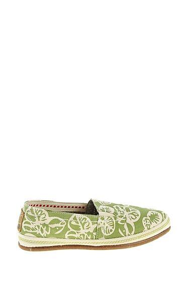 Yeşil Desenli Keten Ayakkabı