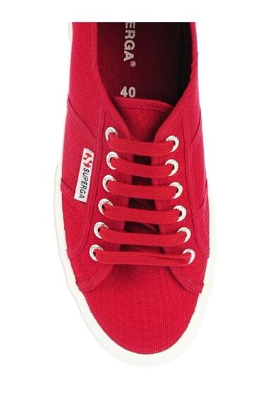 Bağcıklı Bordo Keten Ayakkabı